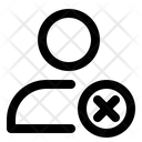 User Deleted Blocked Block Icon