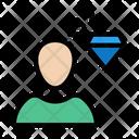 Diamond Profile Premium Icon