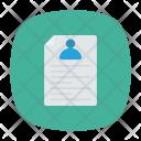 User Document Resume Icon