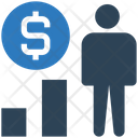 User Dollar Earnings User Graph Icon
