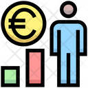 User Euro Earnings User Graph Icon