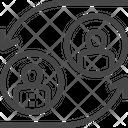 User Exchange User Transfer Exchange Icon