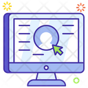 User Experience User Account Online Account Icon