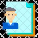 Man Files Paper Icon