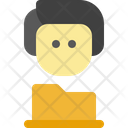 Male Folder People Icon
