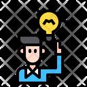 User Get Idea Smart Man Brilliant Man Icon