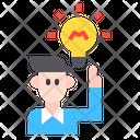 User Get Idea Icon