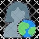 User Globe Profile World Icon