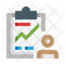 User Growth Career Growth Worker Growth Icon