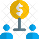 User Hierarchy Two People Money Structure Connection Icon