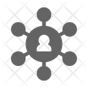 Network Organization Connection Icon