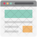 Wireframe User Interface Web Content Icon