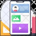 Mobile Content Mobile Design Mobile App Icon
