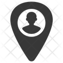 Human Resources Location Male Icon