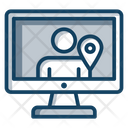 User Location Person Location Online Location Icon