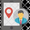 Mobile Location Navigation App Online Location Icon