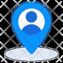 User Location Nearby Location Person Location Icon