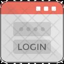 Web Login Screen Icon