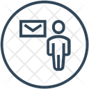 Seo User Envelope Icon