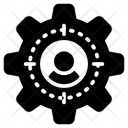 User Management Cogwheel Setting Icon Icon