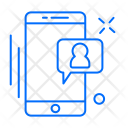 Conversation Mobile User Icon