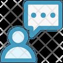 Person Chat Talk Icon