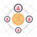 Network Sharing Dollar Icon