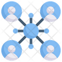Internet Marketing User Networking Connection Icon