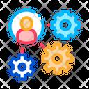 Gear Mechanism Man Icon