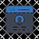 User Profile Webpage Icon