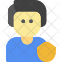 Male Protection People Icon