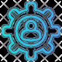 User Setting Profile Setting Gear Icon
