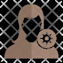 Setting User Woman Icon