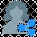 User Share Profile Share Profile Connection Icon