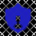 User Shield User Protection Profile Shield Icon