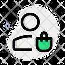 User Shopping Bag Icon