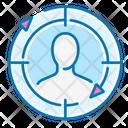User Target Remarketing Man Icon