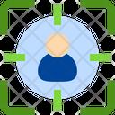Target User Employee Icon