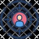 User Target Target Goal Icon