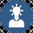 User Thinking Brain Bulb Bright Mind Icon