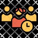 User Timing Profile Timing Female Profile Icon