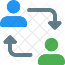 User Transfer User Exchange Employee Transfer Icon