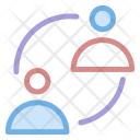 Users Communication Network Icon