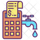 Utility Bill Payment Water Icon