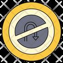 Uturn Traffic Sign Icon