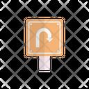 Uturn Sign Arrow Icon