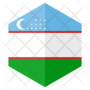 Uzbekistan Flag Country Icon