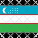 Flag Country Uzbekistan Icon