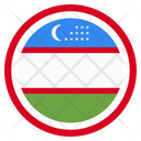 Uzbekistan Country National Icon