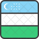 Uzbekistan Asian Country Icon